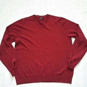 V-neck boyfriend sweater merino wool blend